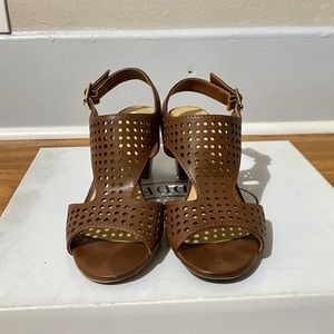 Chinese Laundry Brown Cutout Sandals